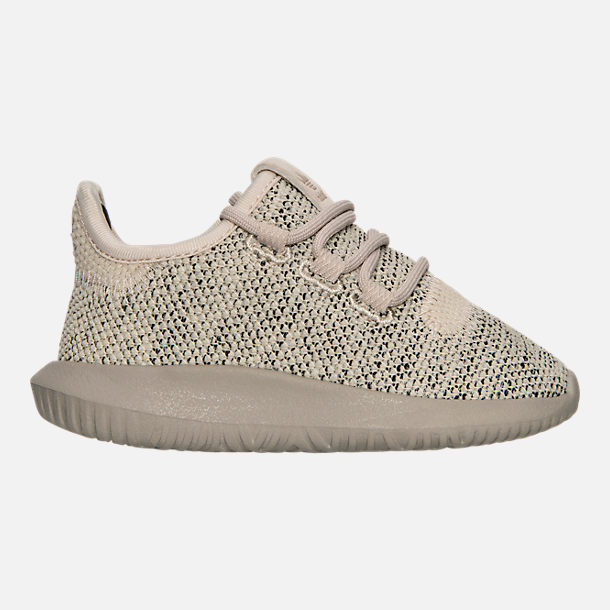 Right view of Boys' Toddler adidas Originals Tubular Shadow Knit Casual Shoes in Trace Brown/Vintage White