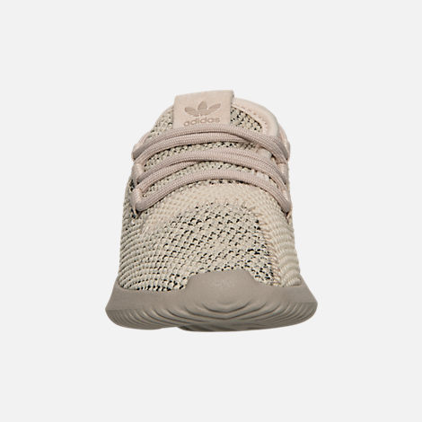 Front view of Boys' Toddler adidas Originals Tubular Shadow Knit Casual Shoes in Trace Brown/Vintage White