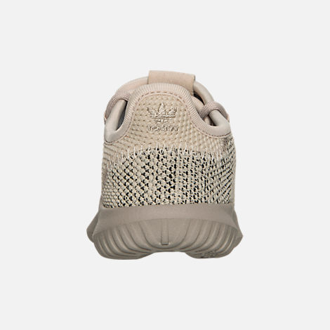 Back view of Boys' Toddler adidas Originals Tubular Shadow Knit Casual Shoes in Trace Brown/Vintage White