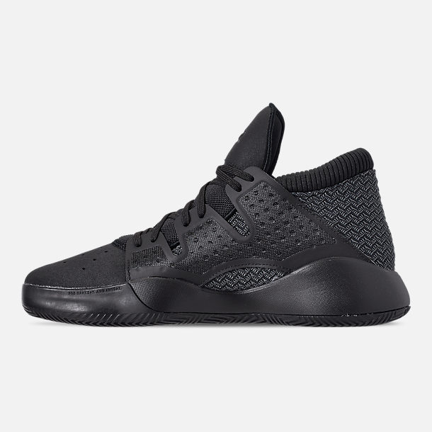 Left view of Men's adidas Pro Vision Basketball Shoes in Core Black/DGH Solid Grey/Core Black