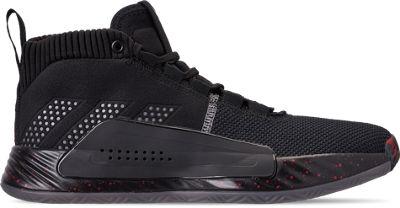 best service 62215 41697 Adidas Mens Dame 5 Basketball Shoes, Black