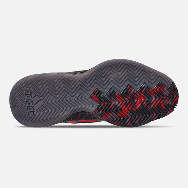 brand new 54475 04f8a Bottom view of Mens adidas Dame 5 Basketball Shoes in Core BlackGrey Three  F17