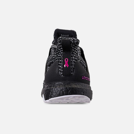 Back view of Men's adidas UltraBOOST BCA Running Shoes in Cloud White/Core Black/Shock Pink