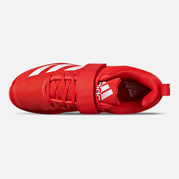 b5edcdf749 Top view of Men s adidas Powerlift 4 Training Shoes in Active Red Cloud  White