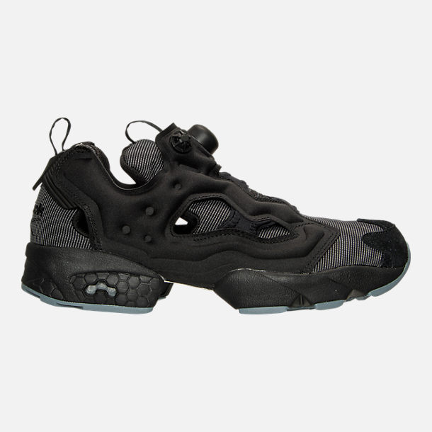 Right view of Men's Reebok Insta Pump Casual Shoes in Black/Fire Spark/Stonewash