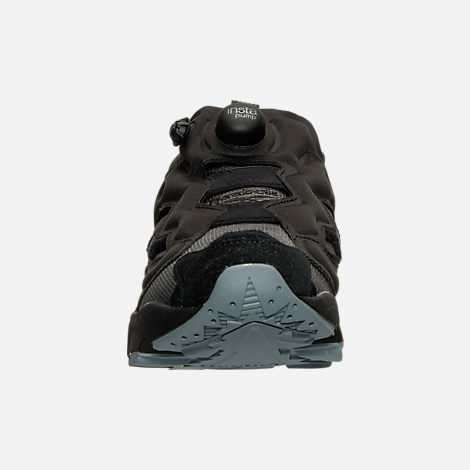 Front view of Men's Reebok Insta Pump Casual Shoes in Black/Fire Spark/Stonewash
