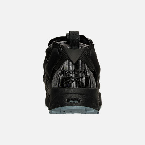 Back view of Men's Reebok Insta Pump Casual Shoes in Black/Fire Spark/Stonewash