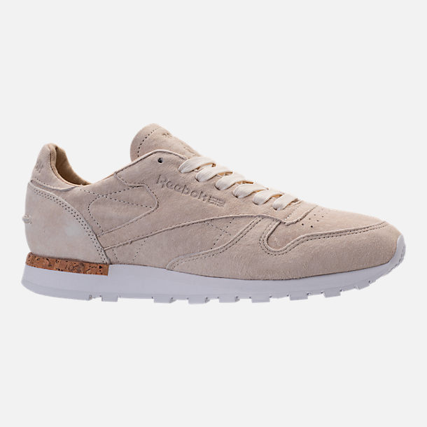 Right view of Men's Reebok Classic Leather LST Casual Shoes in Classic White/Paper White/White