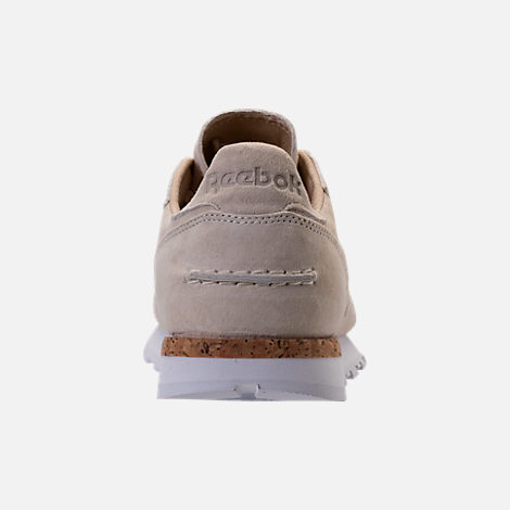 Back view of Men's Reebok Classic Leather LST Casual Shoes in Classic White/Paper White/White