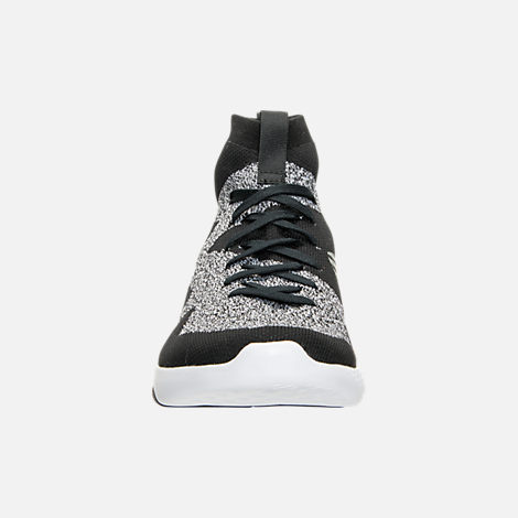 Front view of Women's Reebok Hayasu Casual Shoes in Black/Fault Grey/White