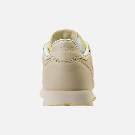 Back view of Women's Reebok Classic Leather Casual Shoes in Washed Yellow