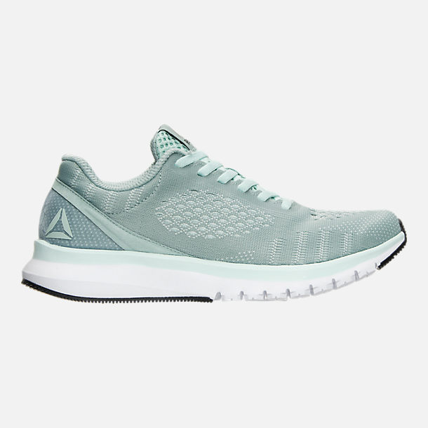 Right view of Women's Reebok Print Run Smooth ULTK Running Shoes in Seaside Grey/Mist/White