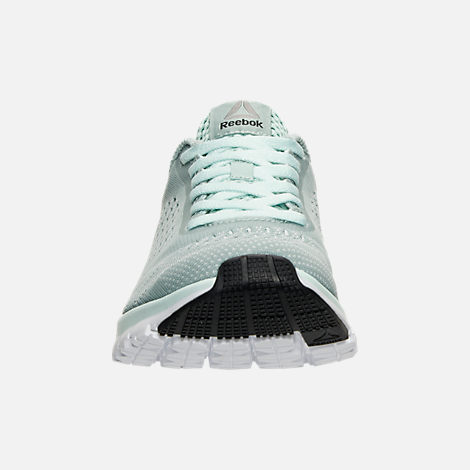 Front view of Women's Reebok Print Run Smooth ULTK Running Shoes in Seaside Grey/Mist/White
