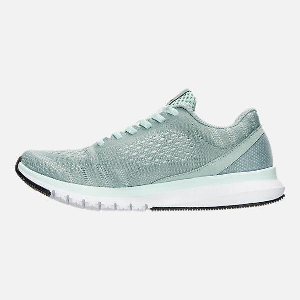 Left view of Women's Reebok Print Run Smooth ULTK Running Shoes in Seaside Grey/Mist/White