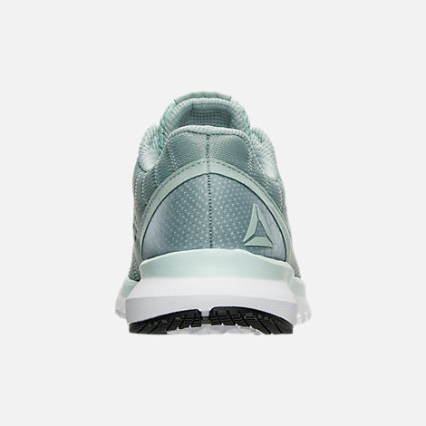 Back view of Women's Reebok Print Run Smooth ULTK Running Shoes in Seaside Grey/Mist/White