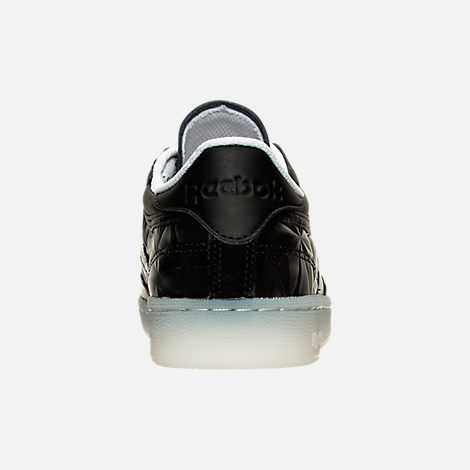 Back view of Women's Reebok Club C Hype Metallic Casual Shoes in Black/White