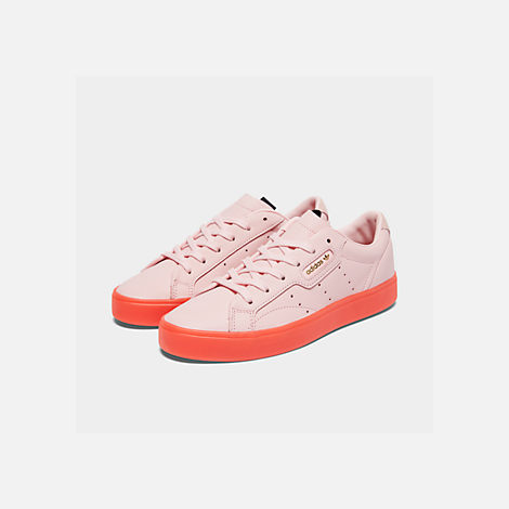 Three Quarter view of Women's adidas Originals Sleek Casual Shoes in Diva/Diva/Red
