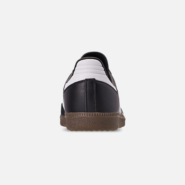 49718f123 Back view of Women's adidas Originals Samba OG Casual Shoes in  Black/White/Gum
