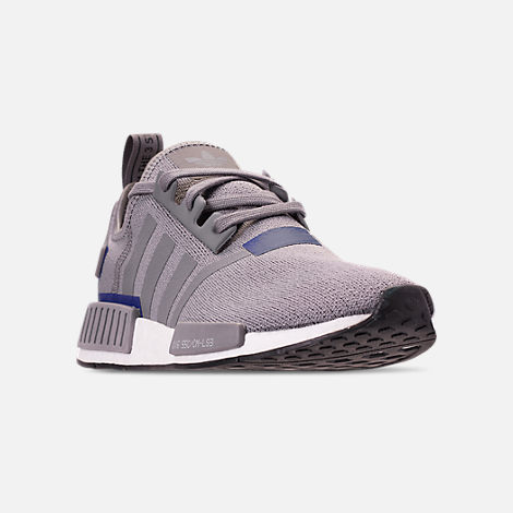 Three Quarter view of Men's adidas NMD Runner R1 Casual Shoes in Grey Three