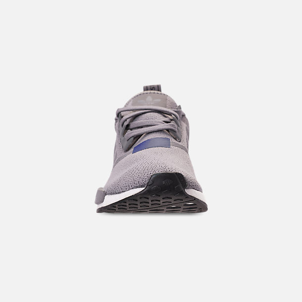 Front view of Men's adidas NMD Runner R1 Casual Shoes in Grey Three
