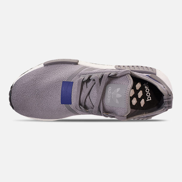 Top view of Men's adidas NMD Runner R1 Casual Shoes in Grey Three