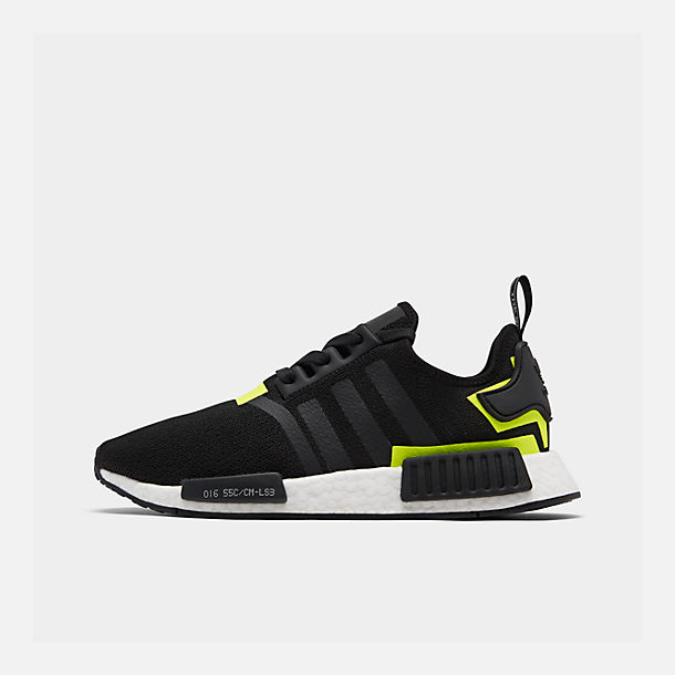 Right view of Men's adidas NMD Runner R1 Casual Shoes in Core Black/Footwear White