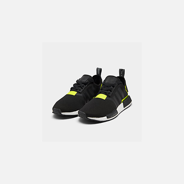 Three Quarter view of Men's adidas NMD Runner R1 Casual Shoes in Core Black/Footwear White