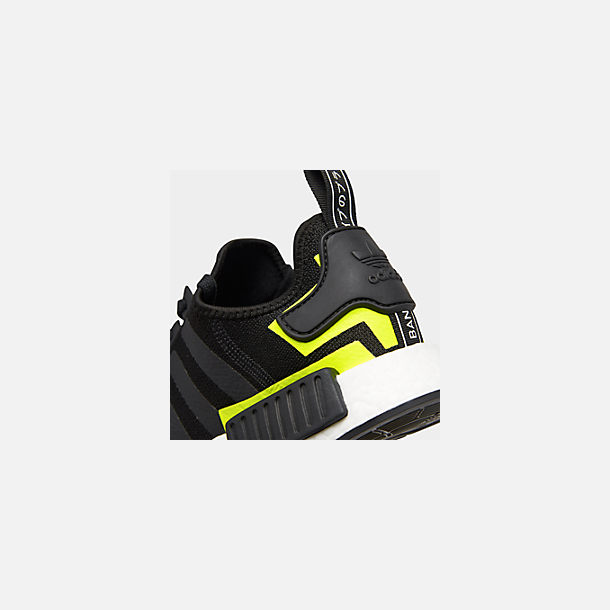 Front view of Men's adidas NMD Runner R1 Casual Shoes in Core Black/Footwear White