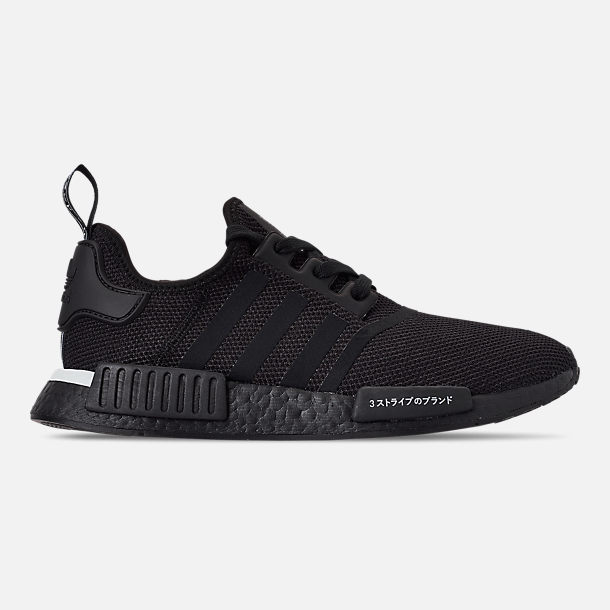 Right view of Men's adidas NMD Runner R1 Casual Shoes in Core Black/Core Black/Footwear White