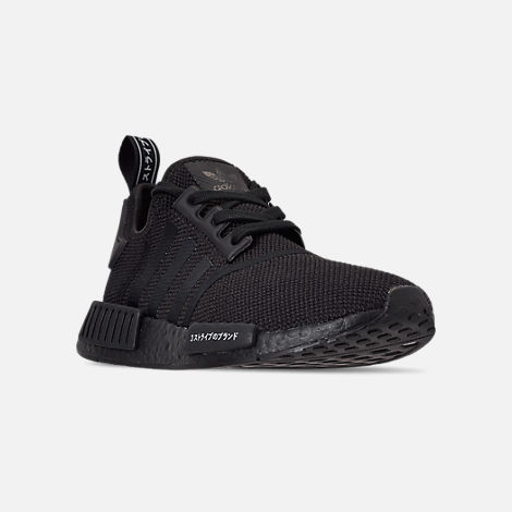 Three Quarter view of Men's adidas NMD Runner R1 Casual Shoes in Core Black/Core Black/Footwear White