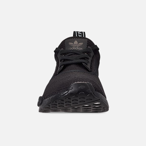 Front view of Men's adidas NMD Runner R1 Casual Shoes in Core Black/Core Black/Footwear White