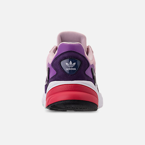 Back view of Women's adidas Originals Falcon Casual Shoes in Clear Pink/Clear Pink/Legend Purple