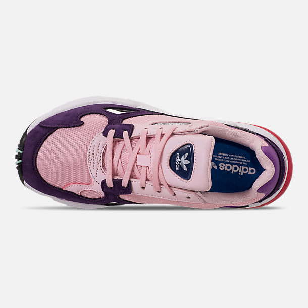 best service 9cf38 c4fa0 Top view of Womens adidas Originals Falcon Casual Shoes in Clear  PinkClear Pink