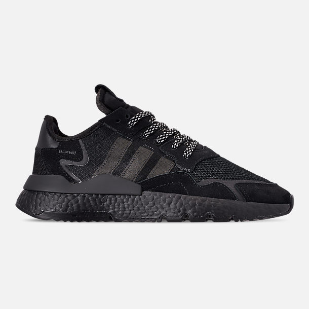 Right view of Men's adidas Originals Nite Jogger Casual Shoes in Core Black/Black/Carbon