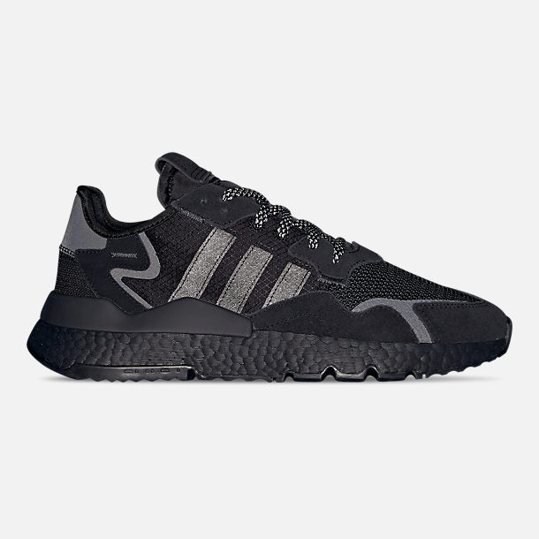 Left view of Men's adidas Originals Nite Jogger Casual Shoes in Core Black/Black/Carbon