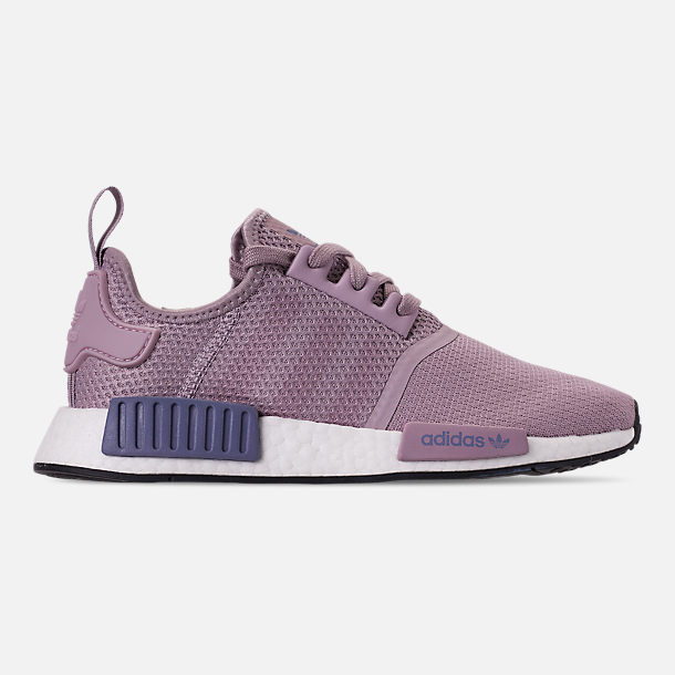Right view of Women's adidas NMD R1 Casual Shoes in Soft Vision/Soft Vision/Raw Indigo