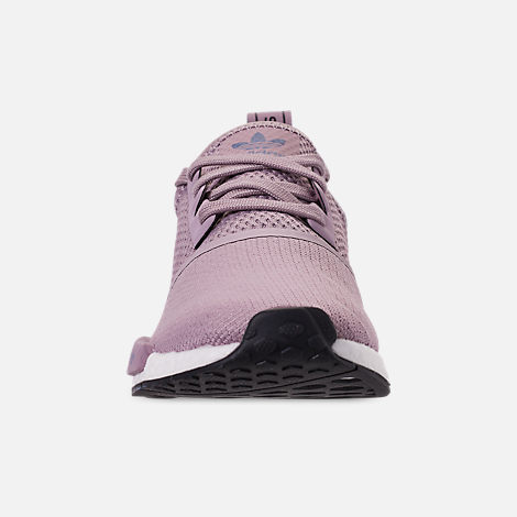 Front view of Women's adidas NMD R1 Casual Shoes in Soft Vision/Soft Vision/Raw Indigo