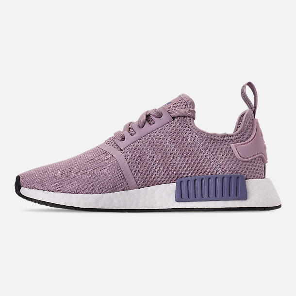 Left view of Women's adidas NMD R1 Casual Shoes in Soft Vision/Soft Vision/Raw Indigo