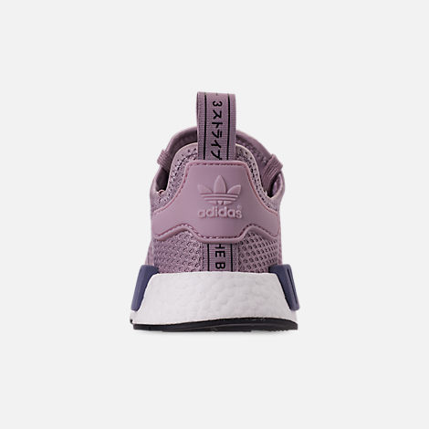 Back view of Women's adidas NMD R1 Casual Shoes in Soft Vision/Soft Vision/Raw Indigo