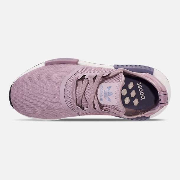 Top view of Women's adidas NMD R1 Casual Shoes in Soft Vision/Soft Vision/Raw Indigo