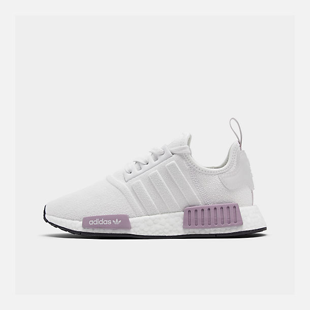 67bd7bc323b0f Right view of Women s adidas NMD R1 Casual Shoes in Crystal White Crystal  White