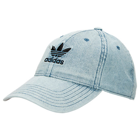 Adidas Women S Originals Cotton Relaxed Washed Strap-Back Hat In Light Blue bdc4e94f932f