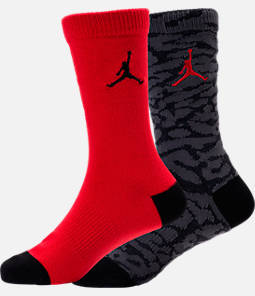 Boys' Air Jordan Elephant Print 2-Pack Crew Socks Product Image