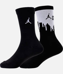 Kids' Air Jordan City of Flight 2-Pack Crew Socks