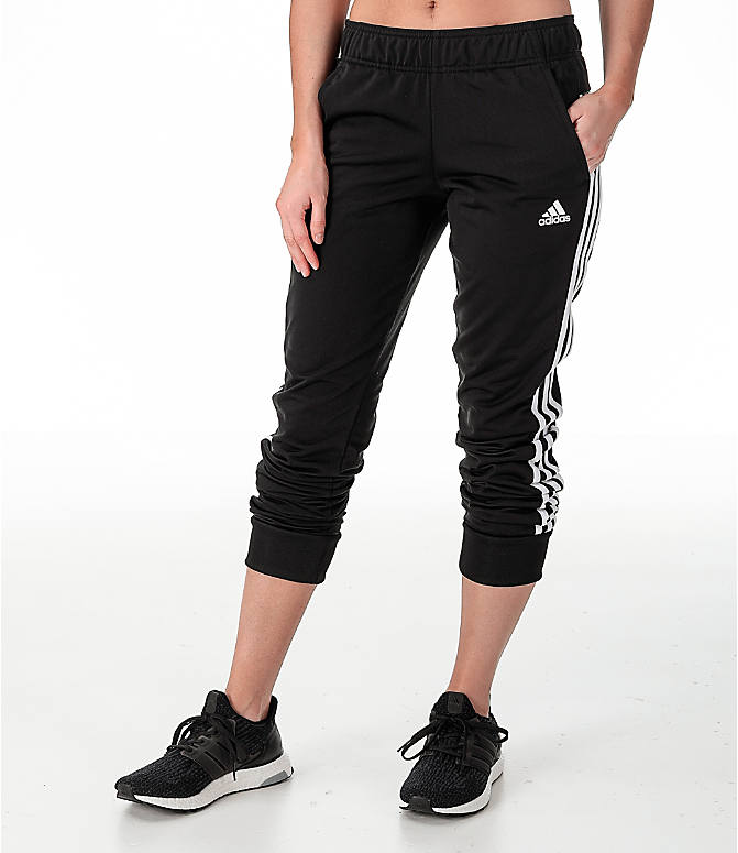 Front view of Women s adidas Designed 2 Move Jogger Pants in Black White 42fac760c1