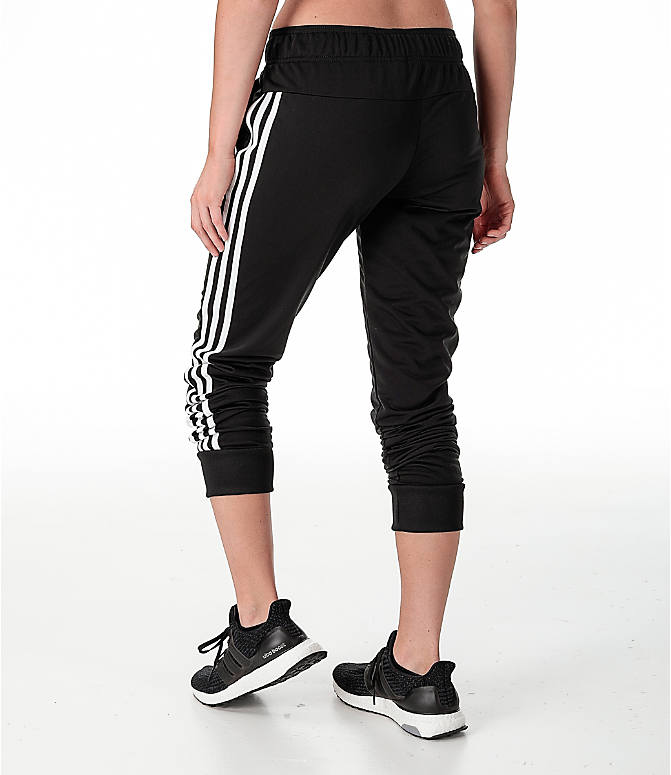 Back Left view of Women's adidas Designed 2 Move Jogger Pants in Black/White