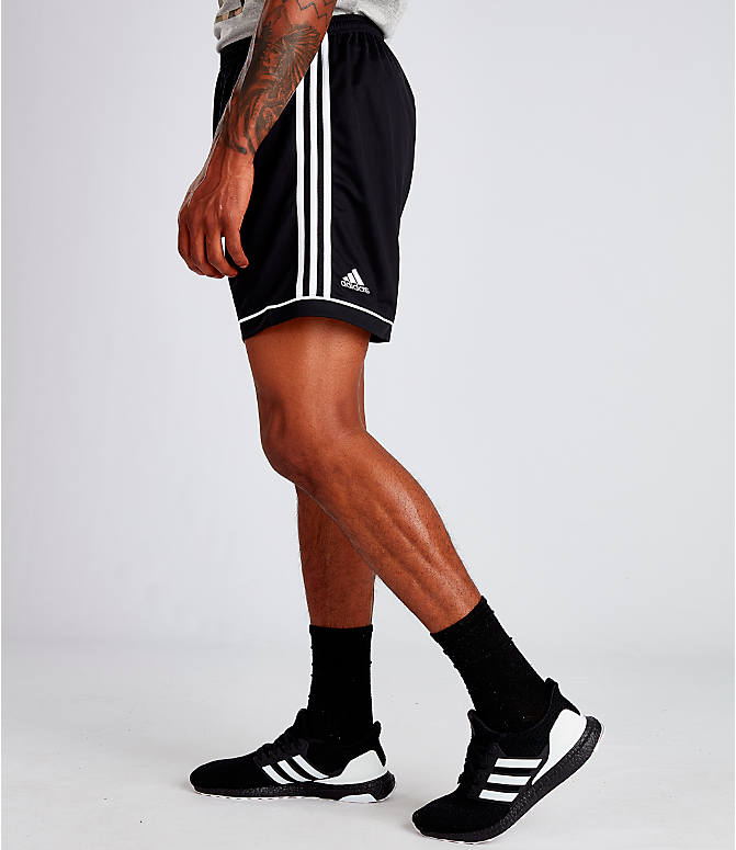 Front view of Men's adidas Squadra 17 Soccer Shorts in Black/White