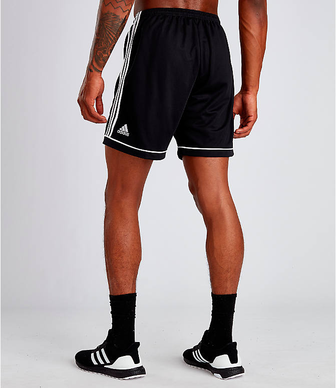Back Left view of Men's adidas Squadra 17 Soccer Shorts in Black/White