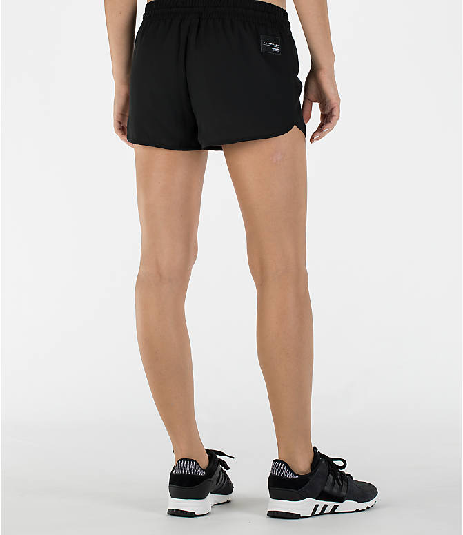 Back Right view of Women's adidas Originals EQT Shorts in Black/White