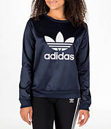 Women's adidas Originals Trefoil Satin Crew Sweatshirt